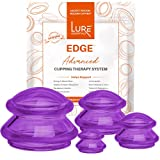 Lure Cupping Therapy Sets - Professional Silicone Cupping Set (Flex) for Muscle and Joint Pain Relief, Cellulite and More (Purple, 4)
