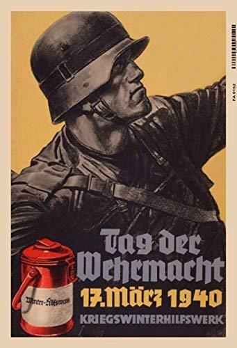 Tag der Wehrmacht 1940 Deutscher Soldat 2. Weltkrieg Motiv 2 Blechschild Schild Blech Metall Metal Tin Sign 20 x 30 cm FA0162