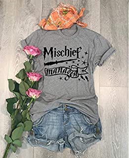 Mischief Managed/Screen Printed With Eco-Ink/Universal Trip Shirt/Harry Potter Shirt/Love T Shirt/Cool T Shirt/Disney Trip Shirt/Unisex Fit/Crew-Neck Shirt//