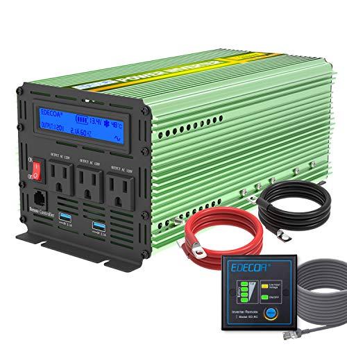 EDECOA 2000W Power Inverter for Boat