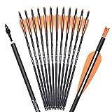 TY Archery Pernos de ballesta de carbono de 20 pulgadas, para tiro con arco, flechas con alas de 10...