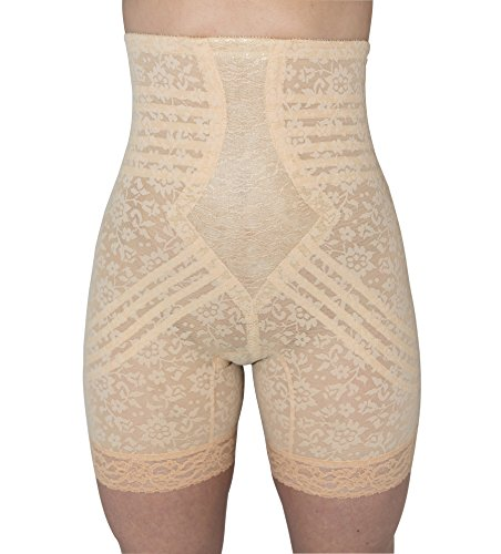Rago Women's Hi Waist Long Leg Shaper, Beige, Medium (28)