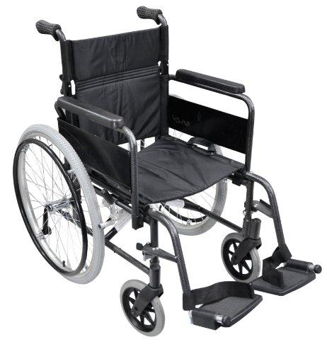 Aidapt VA168 Deluxe Greifreifen-Rollstuhl aus Aluminium