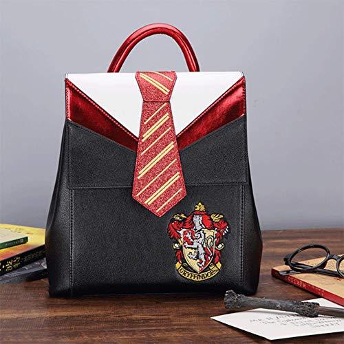 FACAI Rucksack, Harry Potter Schoolbag Krawatte Abzeichen Studenten Slytherin Gryffindor Rucksack,Gryffindor Lion House