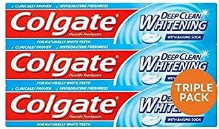[Colgate ] コルゲート深いクリーンホワイトニング歯磨きトリプルパック3×75ミリリットル - Colgate Deep Clean Whitening Toothpaste Triple Pack 3 x 75ml [並行輸入品]