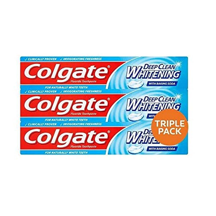 科学者主にアクセス[Colgate ] コルゲート深いクリーンホワイトニング歯磨きトリプルパック3×75ミリリットル - Colgate Deep Clean Whitening Toothpaste Triple Pack 3 x 75ml [並行輸入品]