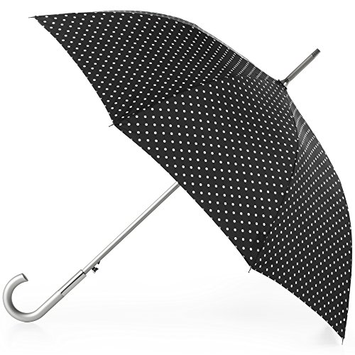 totes Auto Open Water-Resistant Stick Umbrella, Swiss Dots