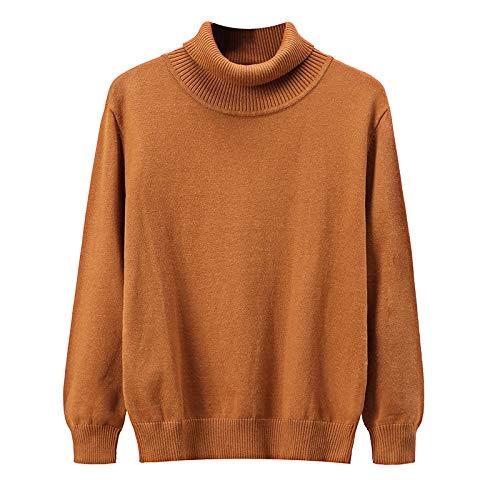 Hombre Suéter de Cuello Alto Jersey Slim Fit Color Liso Tejido Fino Espesar Cómodo cálido Clásico Casual Pullover XX-Large