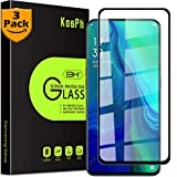 [3-Pack] KOSPH for Oppo (Reno 10X Zoom) Tempered Glass Screen Protector, 9H Anti-Scratch, 2.5D Arc Edge, Oleophobic Coated, Sensitive Touch, High Clarity (Max Coverage, Black)