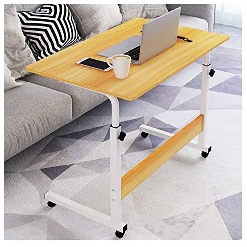 LYLSXY Tavolino Laterale per Divano a Forma di C Tavolo per Notebook Supporto del Computer per Casa Ufficio, Altezza Regolabile (Color : Walnut)