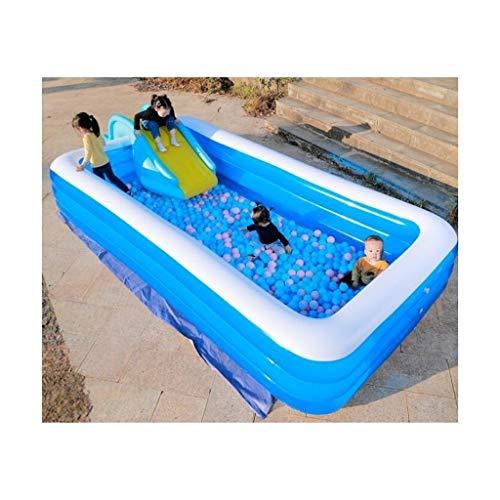 DYYD Gran Piscina, la interacción Familiar Bañera Océano Ball Pool Summer Pool Party Espesado abrasión 440x210x65 Cm