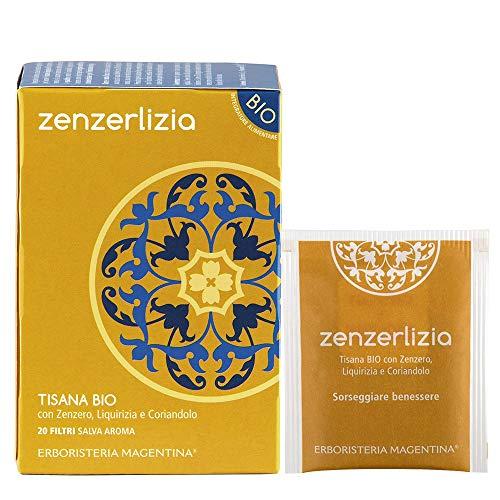 Erboristeria Magentina - Tisana ZENZERLIZIA 20 filtri con Zenzero, Liquirizia e Coriandolo