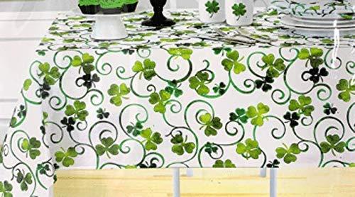 patricks day Green White 100/% Cotton Party Table Runner SHAMROCK st