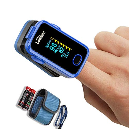 Sale!! LOOKEE Oxy-Clip Premium Fingertip Pulse Oximeter Blood Oxygen Saturation Monitor with Alarm a...