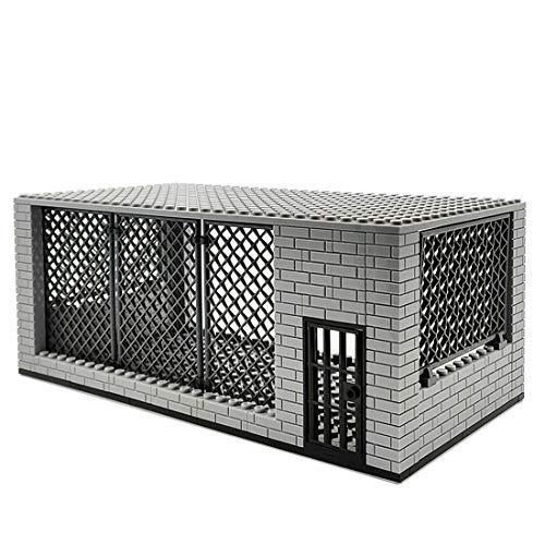 Bulokeliner Juego de bloques de construcción MOC militares de la serie DIY Prison Scene Bricks modelo compatible con Lego