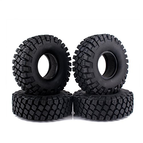 INJORA 4 Stücke 1,9 RC Crawler Reifen, Wheel Tires Reifen Set für 1:10 RC Rock Crawler Axial SCX10 90046 SCX10 III AXI03007 D90 D110 TF2 Traxxas TRX-4