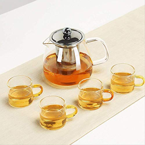 Zhuoyi Tea Gift Box Child With Tea Set Tea Set Tea Cup And Saucer Gift Set Thickened, Large Capacity, High Temperature And Low Temperature Resistant Glass Tea Set