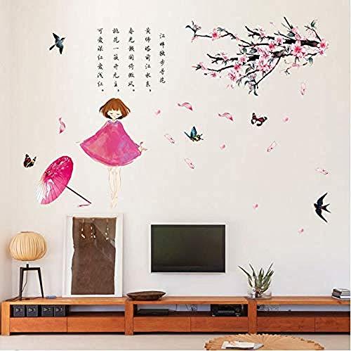 Fotobehang-vintage Chinese poëzie pruimen werkkamer woonkamer slaapkamer wandafbeelding 50x70cm
