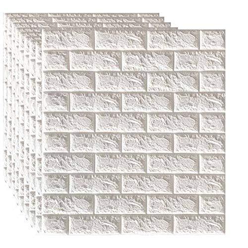 SQINAA Paneles de Pared 3D de ladrillo, Papel Tapiz despegable y Adhesivo...