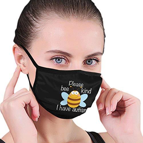 Bee Kind I Have Autism Men Womens Kids Teens Print Half Face wasbaar herbruikbare radiator voor het lopen