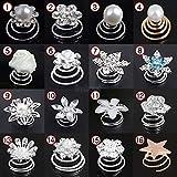 Imixlot 12pcs Bridal Crystal Pearl Flower Spiral Twist Hair Pins Clips Wedding Jewelry Bride Headdress Women Hair Accessories