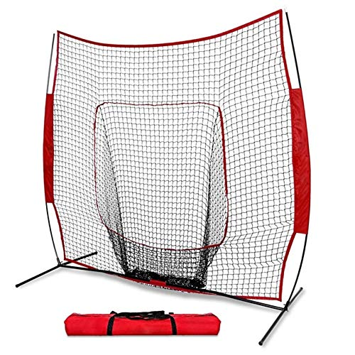 EXCLVEA Baseball Übungsnetz Portable 7 * 7 Fuß Baseball Softball Praxis Training Baffel Net Kinder Baseball Übung Sport Zubehör für Anfänger und Fortgeschrittene (Farbe, Size : 213x213cm)