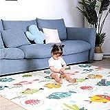Arkmiido Alfombra de juego para bebés, Alfombrilla impermeable no tóxica plegable extra grande para niños, 200 x 180x 1.5 cm, Material XPE (Pez)
