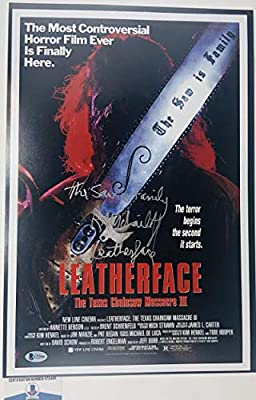 Ra R.a. Mihailoff Signed Texas Chainsaw Massacre 12x18 Photo Poster Bas G72466 Autograph Autographed Horror