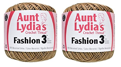Aunt Lydia's Crochet Thread - Size 3 - (2-Pack) Copper Mist