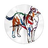 Night Ing Reloj de Pared Redondo Colorido Retrato de pie en Perfil Gran Perro de montaña Suizo Decorativo para el hogar, la Oficina, la Escuela