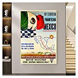 CCZWVH Carrera Panamericana Mexico Poster und Drucke Nordic