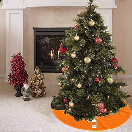 Falda de árbol de navidad Extintor de dibujos animados lindo creativo Estampado de árbol Falda de poliéster Falda de árbol de vacaciones Alfombra para fiesta Decoraciones navideñas Adornos de Navidad