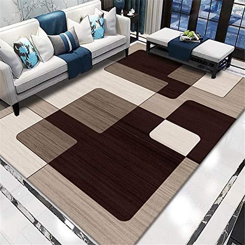 decoracion infantil La alfombra rectangular marrón decora el dormitorio y la sala de estar con suavidad antideslizante. alfombras para habitaciones juveniles alfombra juvenil 200X250CM 6ft 6.7'X8ft 2.