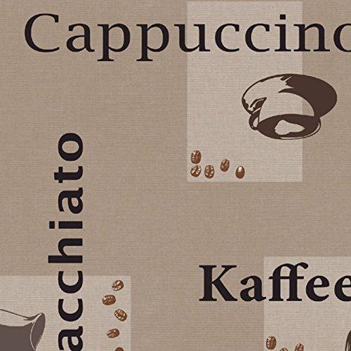 DecoHomeTextil Wachstuch d-c-fix Kaffee Cappuccino Espresso RUND OVAL ECKIG Größe & Farbe wählbar Beige 140 x 200 cm Eckig abwaschbare Tischdecke