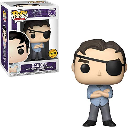 Funko Pop! TV: Buffy The Vampire Slayer 25 ° Aniversario - Xander con Eye Patch Chase Variant Edicion Limitada Figura de Vinilo (Liado con Pop Box Protector Case)