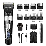 YOHOOLYO Hair Clippers Hair Trimmer Hair Cut Kit Cordless Ceramic Blade Waterproof Rechargeable