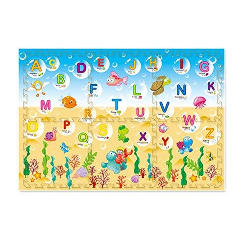 ZI LING SHOP- Bébé enfant filles Tapis de sécurité 2 enfants jouant au tapis de gym Cadeau idéal pour bébé - Alphabet 120 x 180 x 2 cm - Sac de rangement inclus blanket (Color : A)