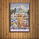 lubenwei The Grand Budapest Hotel Movie Art Painting Seda Canvas Poster Wall Home Decor 40x60cm Sin Marco (WA-3014)
