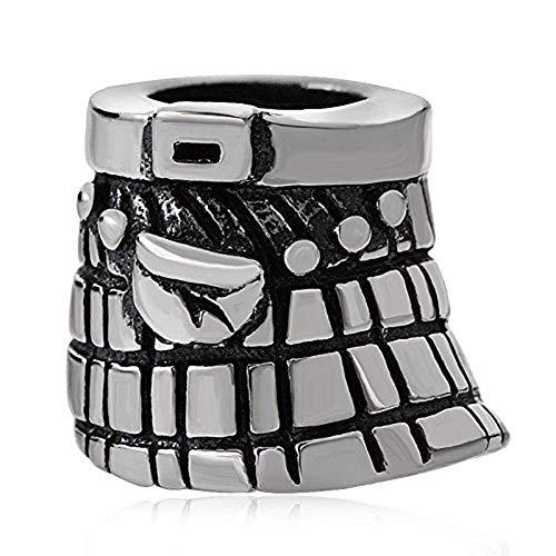 Scotland Skirt Charm 925 Sterling Silver Symbol Charm of UK Charm England Charm for DIY Charms Bracelet