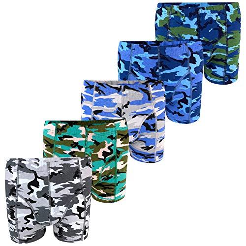 PiriModa 5 Herren Boxershorts Camouflage Army Baumwolle (XL)