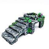 OMEM Reptilien-Zuchtkasten für Terrarien, Versteck, Schildkröte, Auffahrrampe, Wasserschüssel, Fütterung und Versteckhöhle, S