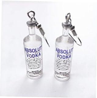 Oulensy Vodka Bottle Ohrringe Lustige Trinkstil Cartoon Transparente Flasche Baumeln Ohrringe Für Frauen Mädchen