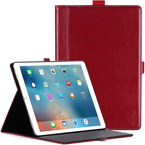 ProCase iPad Pro 12.9 2017/2015 Case - Premium Stand Case Folio Cover for Apple iPad Pro 12.9 Inch (1st Gen 2015) / iPad Pro 12.9' (2nd Gen 2017), with Apple Pencil Holder -Wine Red