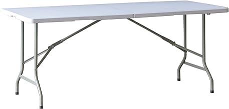 FIELDOOR ワークテーブル 作業台 作業テーブル 折りたたみ式 幅180cm 耐荷重120kg 作業デスク 作業机