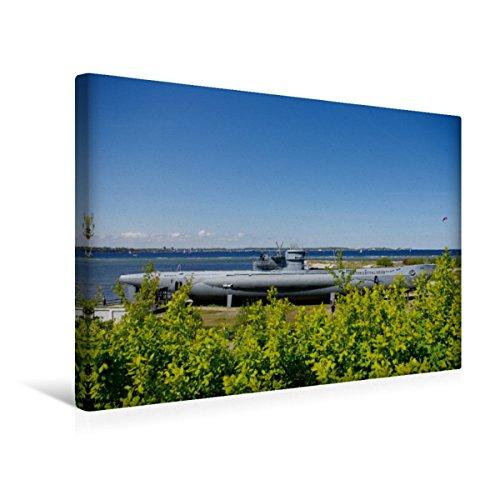Premium Textil-Leinwand 45 x 30 cm Quer-Format U-Boot von Laboe | Wandbild, HD-Bild auf Keilrahmen, Fertigbild auf hochwertigem Vlies, Leinwanddruck von Tanja Riedel