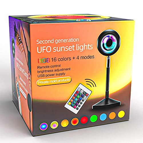 Sunset Lamp | Sunset Projection Lamp | Sunset Light Projector with 24Keys Remote Multiple Colors |...