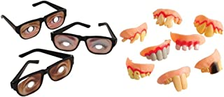 Kid Fun Funny Disguise Glasses Rotten Teeth Toy Party Favor Supplies 24 Piece Set Bundle for 12