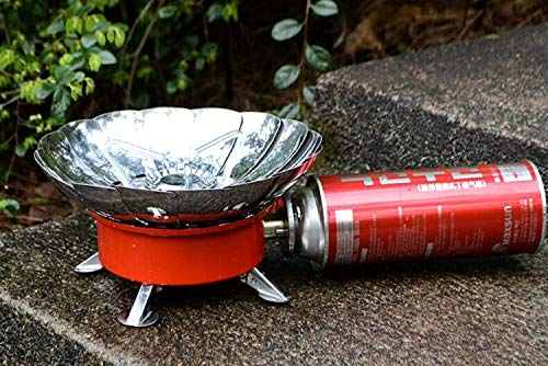NANLO Portable Windproof Camping Stove,Ultra-light Small Round Folding Picnic Stove,Travel Stove,Travel Gas Stove for Cooking