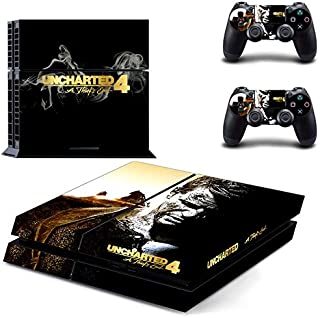 Playstation 4 Skin Set - UNCHARTED 4 HD Printing Vinyl Skin Cover Protective for PS4 Console and 2 PS4 Controller by Mr Wonderful Skin