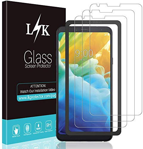 [3 Pack] LK Screen Protector for LG Stylo 4, Tempered Glass [Easy Installation] HD Clear, Anti Scratch